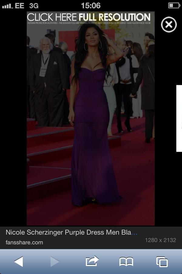 dress purple maxi dress