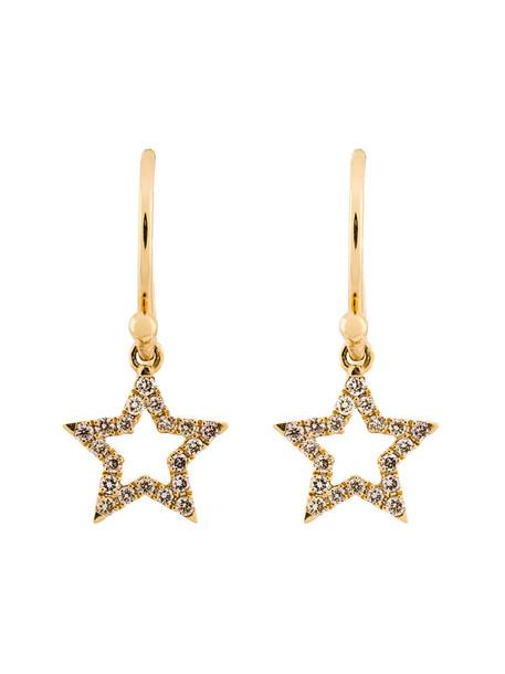 ROSA DE LA CRUZ women earrings gold grey metallic jewels