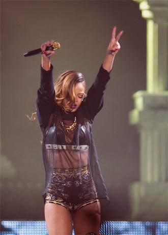 blouse black see through rihanna shorts underwear jewels