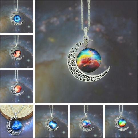 Galaxy moon necklace · ha