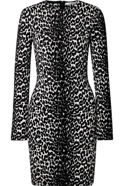 Givenchy - Stretch Jacquard-knit Mini Dress - Black