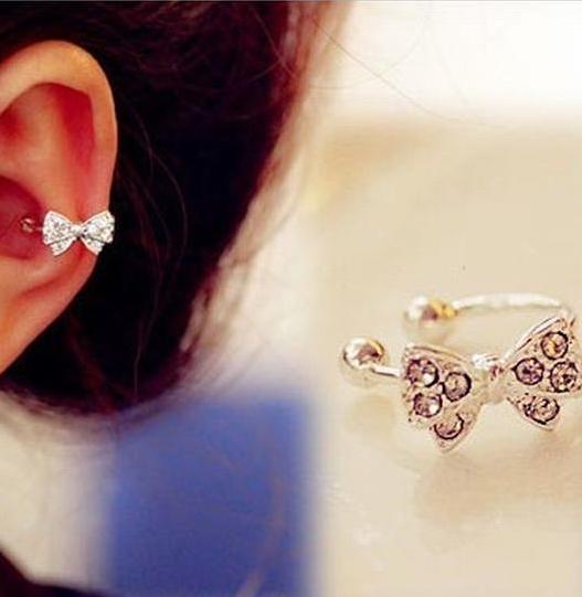 Bowknot ear clip