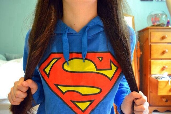 jacket sweater blue yellow superman superman hoodie