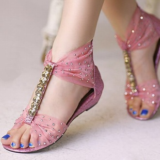 shoes pink glitter ribbon rhinestones t-strap sparkle girly pretty t-strap sandals girly shoes pretty shoes