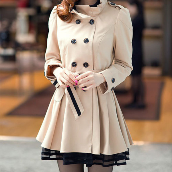 dress coat fashion clothes