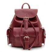 bag,red,fashion,leather,backpack,burgundy