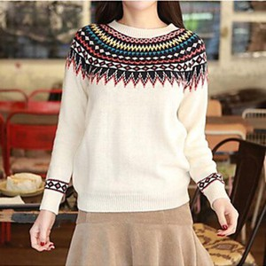 sweater aztec clothes blouse top cute fashion fall outfits kawaii girly