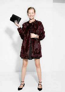 Mango zara group real sheep fur coat with round neck and pockets rrp 319,99€