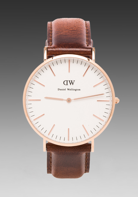 DANIEL WELLINGTON St Andrews 40mm in Rosegold at Revolve Clothing - Free Shipping!