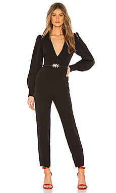 L'Academie The Valerie Jumpsuit in Black from Revolve.com