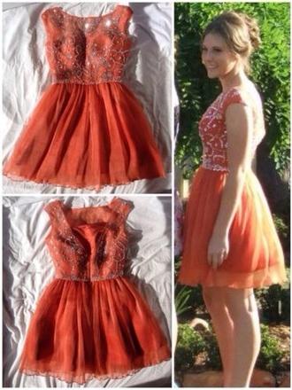 dress orange dress sherri hill sparkle