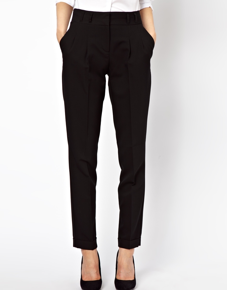 ASOS Peg Trousers With Pleat Front at asos.com