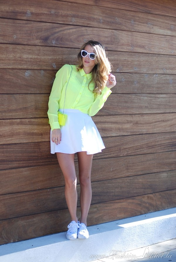 fashion addict t-shirt skirt bag shoes shirt jewels