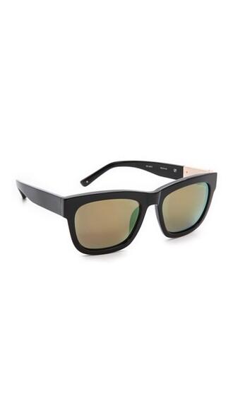 sunglasses mirrored sunglasses black yellow