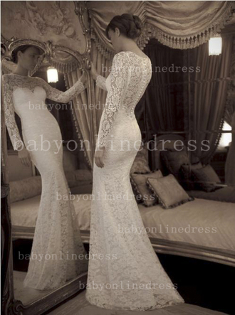 dress prom dress celebrity style lace wedding dress mermaid prom dress lace wedding dress lace dress long sleeve dress trumpet mermaid scoop neck sweep train ruffle maxi dress wedding
