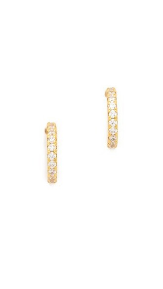mini clear earrings hoop earrings gold jewels