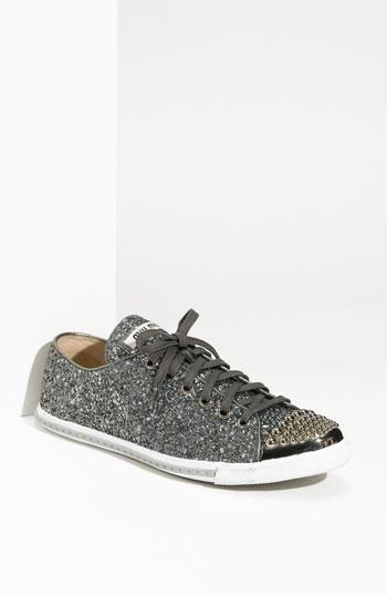 Miu Miu Glitter Sneaker | Nordstrom