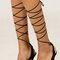 Ankle wrap girl night out heel - black