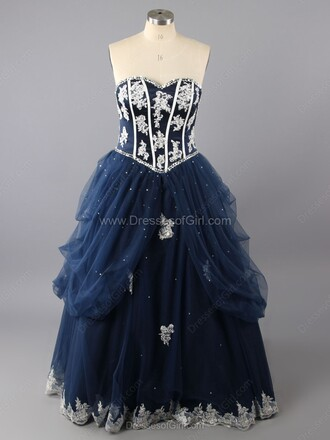 dress gown navy prom homecoming dress elegant strapless fashion beautiful dressofgirl