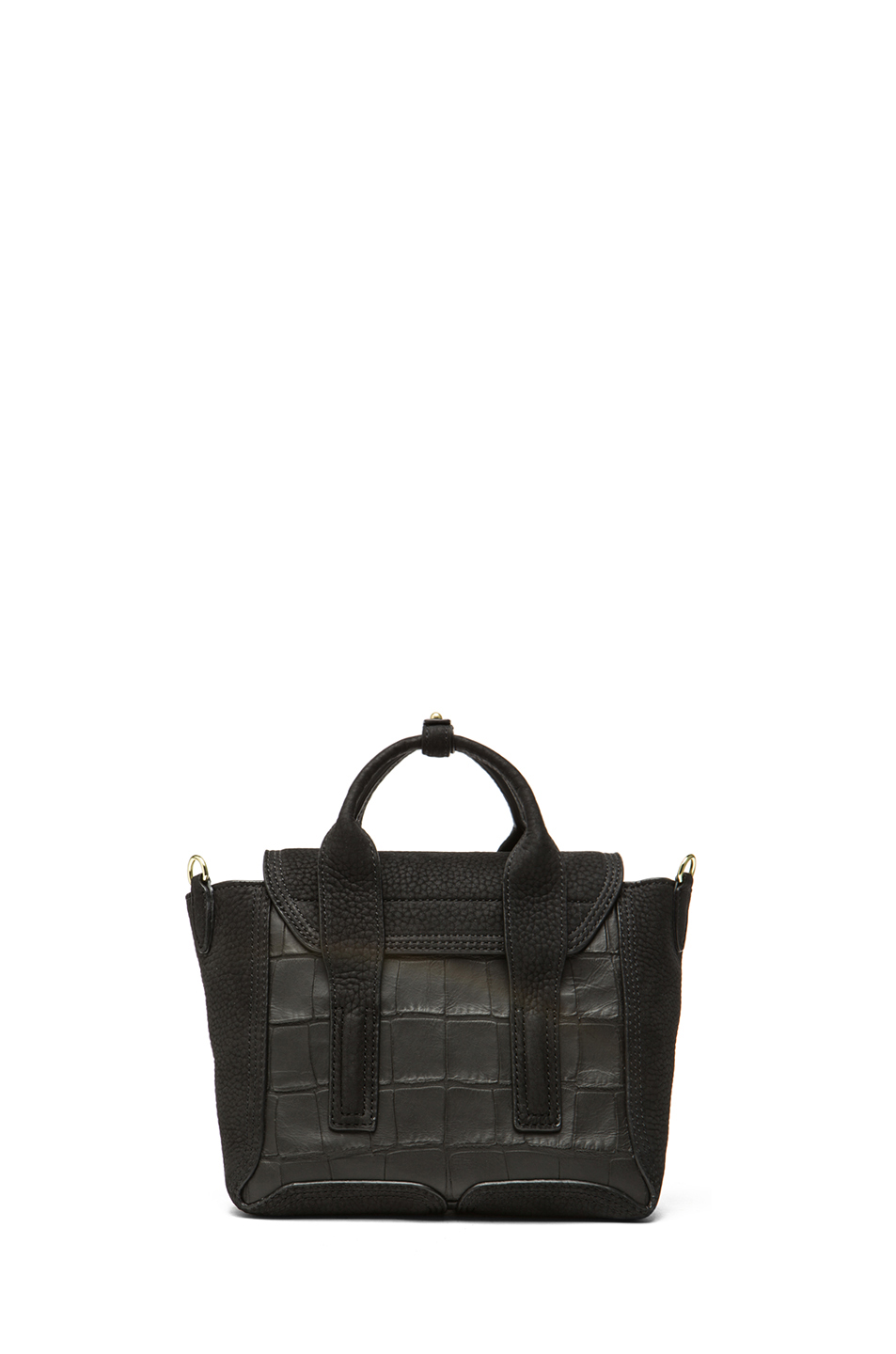 3.1 phillip lim|Mini Pashli Satchel in Black Croc