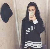 sweater,dope,pretty,cute top,fashion inspo,cute sweaters,chill,rad,casual,tumblr,tumblr outfit,make-up,chain,thug life,on point clothing,on point,on fleek