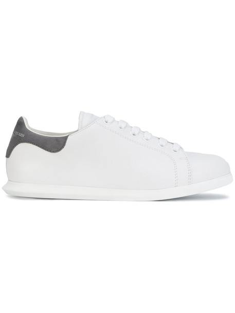 Alexander Mcqueen heel women sneakers leather white suede shoes