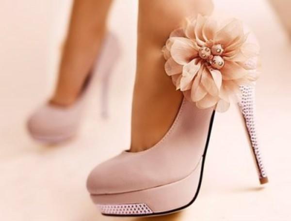 shoes sweet flowers high heels