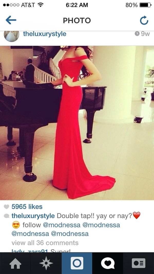 dress red dress prom dress elegant evening dress evening dress red prom dress long red dress