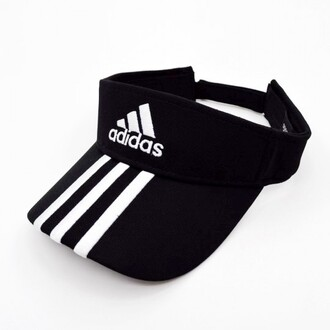hat tennis fashion black cool summer adidas black and white style trendy sportswear sporty boogzel