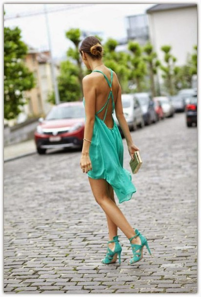 dress green backless