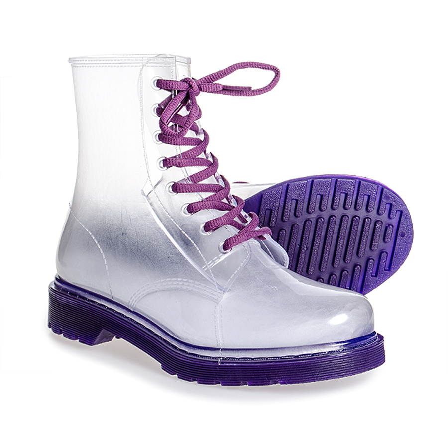 Blue banana clear boot (purple)