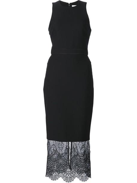 dress women spandex lace black