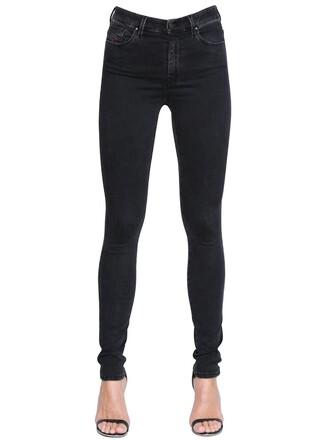 jeans denim high cotton black