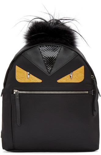 eyes backpack black bag
