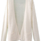 Romwe | buttonless pocketed sheer white cardigan, the latest street fashion