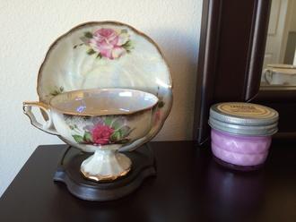 roses rose floral home decor vintage teacup tea cup wild flower