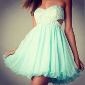 dress,green dress,sleeveless,short,mint dress,lace dress,party dress,fashion,short dress,terqouise,prom dress,style,sexy dress,teal,blue,aqua,aquamarine,homecoming,hoco,formal,prom,white,lace,cut-out dress