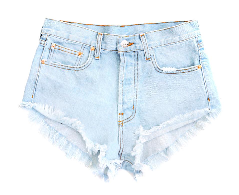 Damsel End Blue | High Waisted Denim Shorts