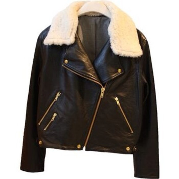 leather jacket perfecto coat blouse bombardier