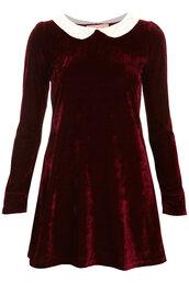 dress,cute dress,velvet