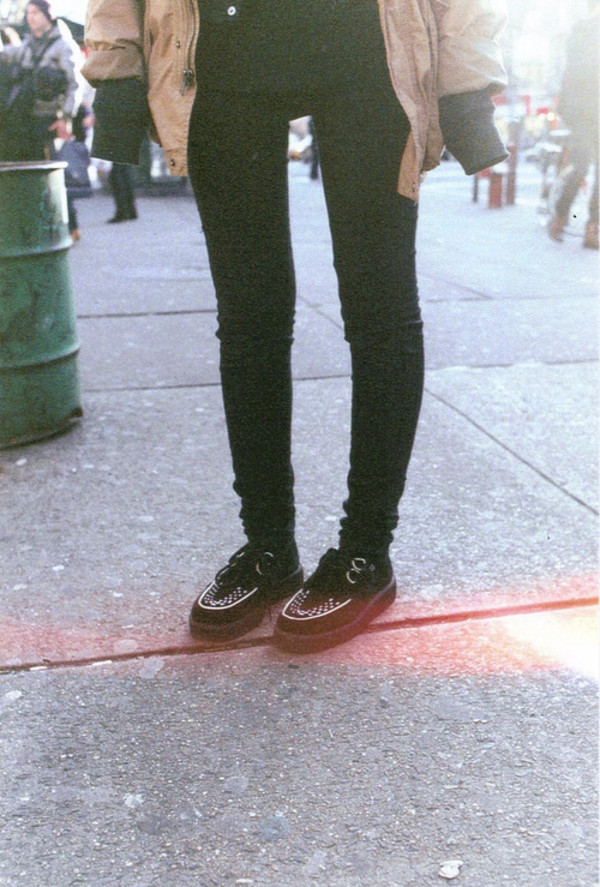 shoes creeprers cute vintage hipster indie lovely black rock