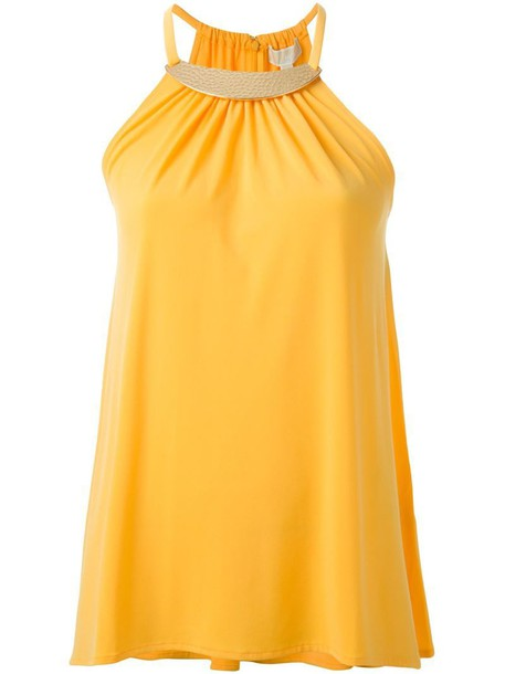 MICHAEL Michael Kors top metal yellow orange