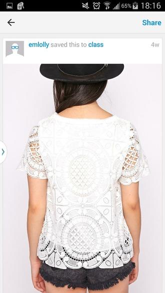 blouse white lace top lace top