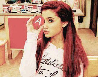 sweater ariana grande addicted to love shirt girl top pink red bag