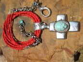 jewels,orange coral necklace,fleurdesignz.etsy.com