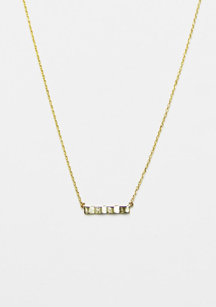 Just Me Bar Necklace - Furor Moda - Tops - Dresses - Jackets - Vintage