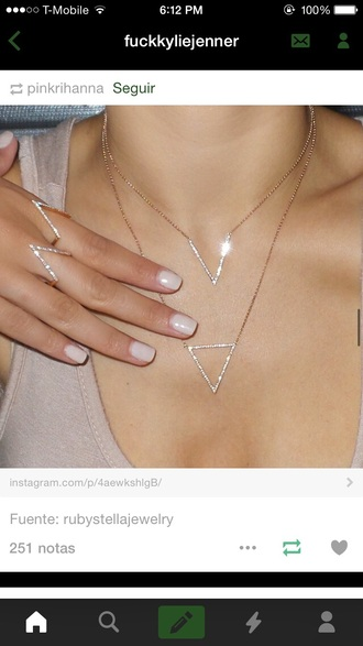 jewels jewelry ring necklace crystal rhinestones dainty necklace rings and tings bling jewelcult