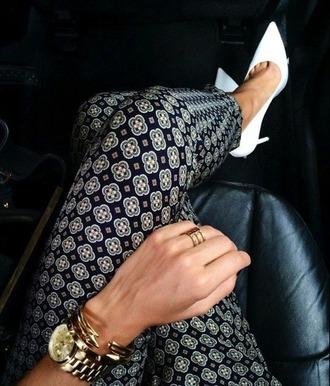 leggings tile print geometric pants straight leg classy cute new year's eve