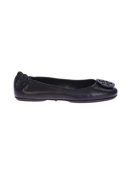 Tory Burch flats leather black shoes