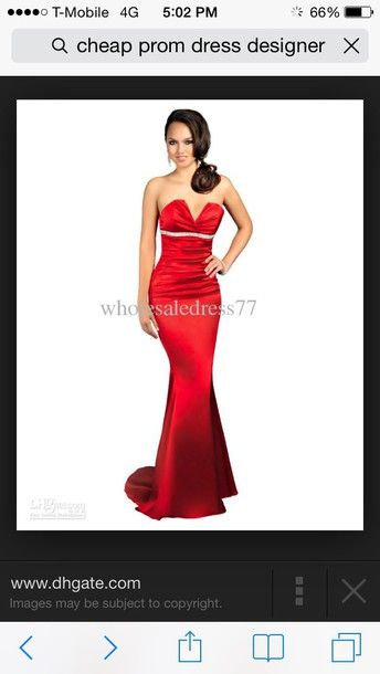 dress gold or red for prom with  lower back open